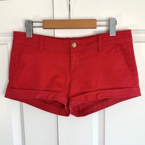 Abercrombie & Fitch Red Chino Shorts